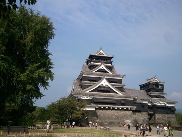 2012年。熊本城にツーリング。