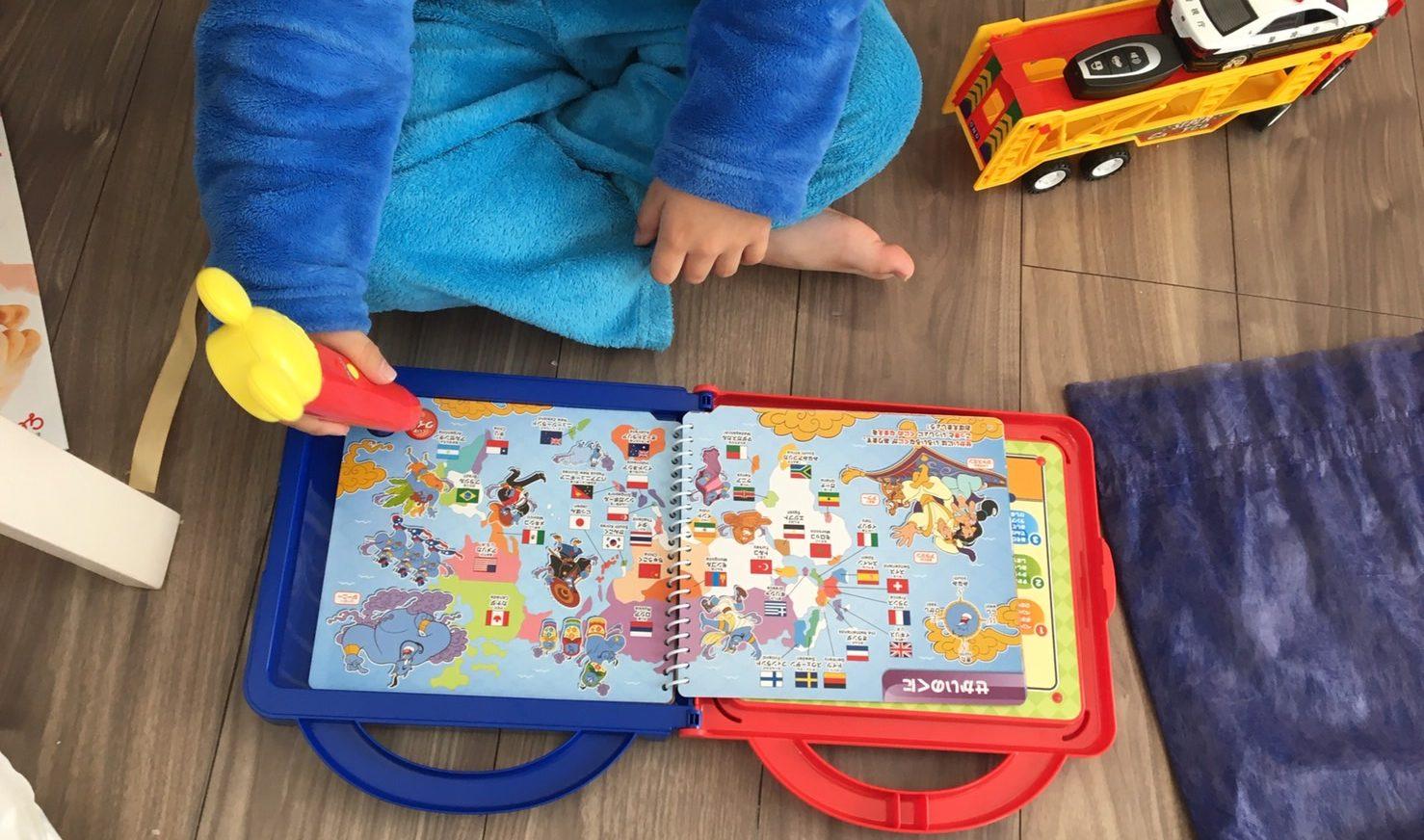 ミッキーとアンパンマンの図鑑をプレゼントしてみた